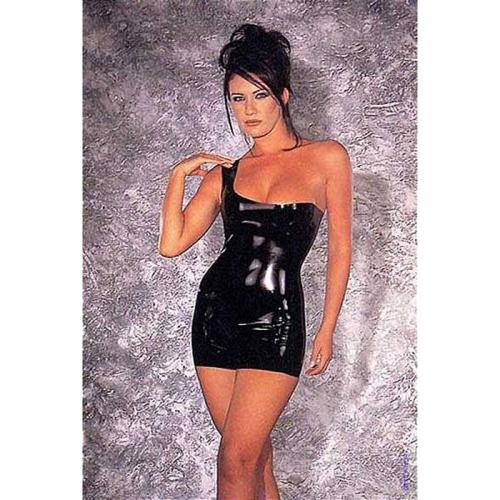 Фото девушек в платье из латекса